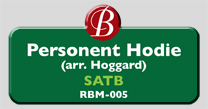 Randol Bass Music - RBM-005 - Personet Hodie (arranged Hoggard), SATB