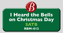 Randol Bass Music - RBM-012 - I Heard the Bells on Christmas Day, SATB