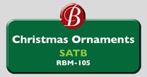 Randol Bass Music - RBM-105 - Christmas Ornaments, SATB