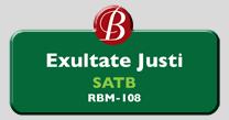 Randol Bass Music - RBM-108 - Exultate Justi, SATB